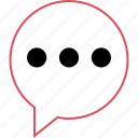 bubble, chat, conversation icon