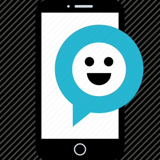chat, conversation, smile, talk icon