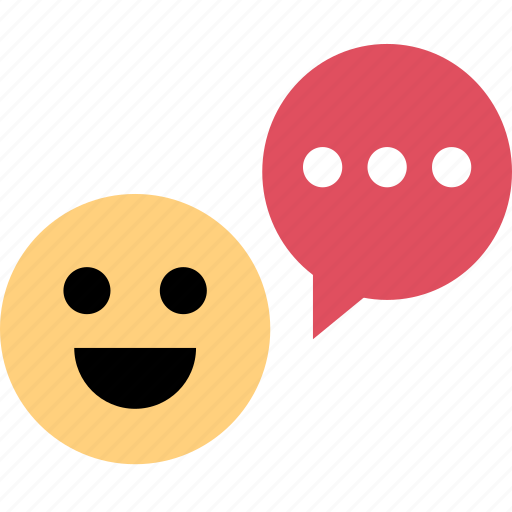 chat, smile, user icon