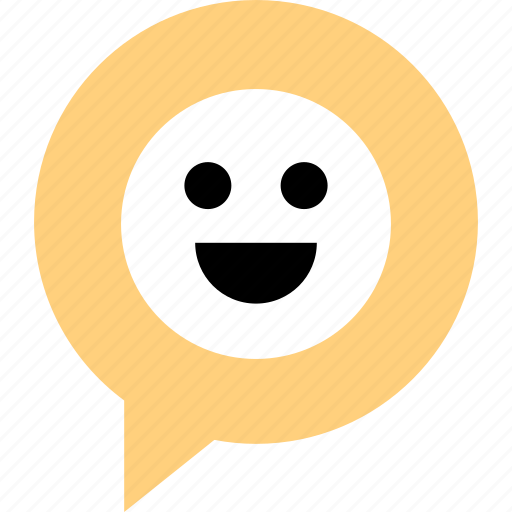 chatting, face, happy icon
