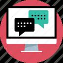 chat, computer, talk icon