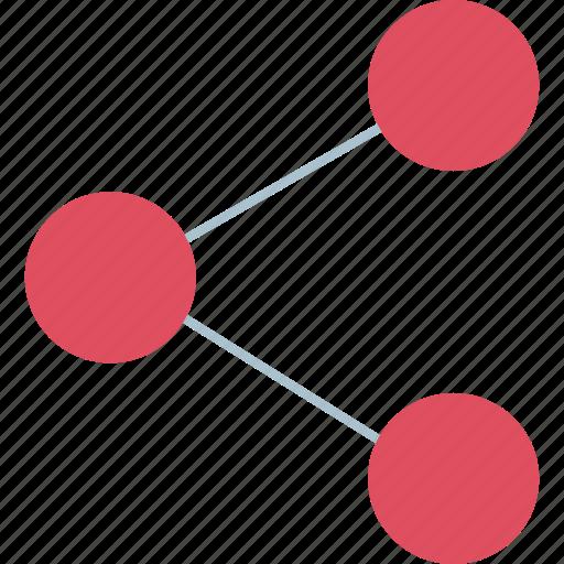 conneciton, connect, three icon