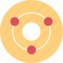 conneciton, dots, three icon