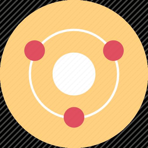 conneciton, dots, three icon