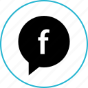 chat, facebook, talk icon