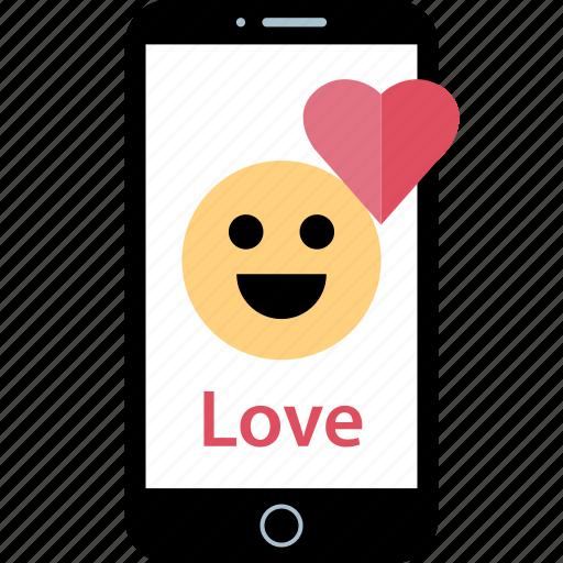 face, heart, love icon