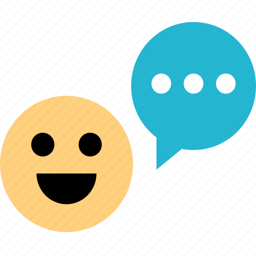 chat, happy, smile icon