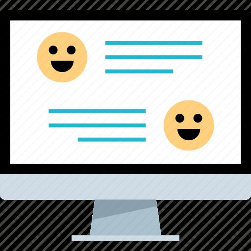 online, talk, talking, web icon