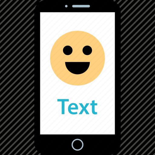 happy, message, text icon