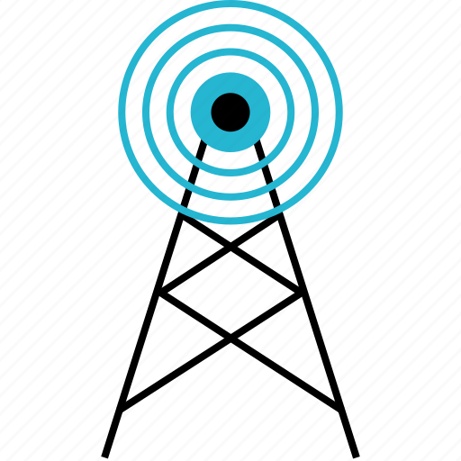 connection, signal, tower icon