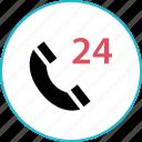 four, hour, service, twenty icon
