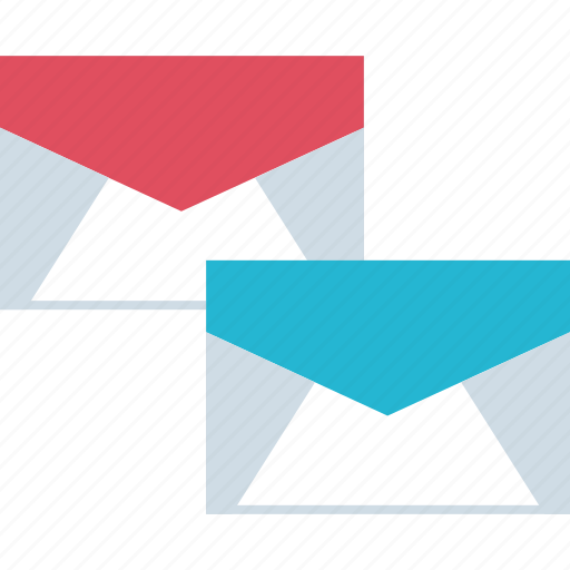 cc, copy, emails, two icon