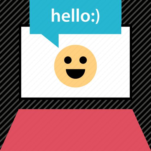 hello, hi, howareyou, web icon