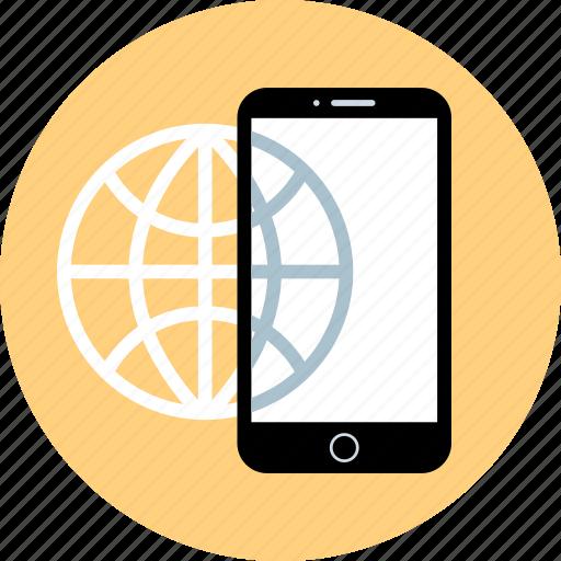 phone, web, wide, world icon