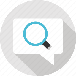 find, located, look, message, messaging, text, zoomin icon
