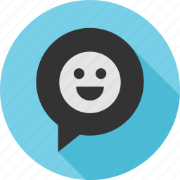 chat, emoji, happy, message, messaging, talk, text icon