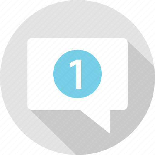 message, messaging, notification, number, one, talk, text icon