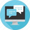 chat, conversation, messaging, online, talk, text, web icon
