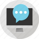 bubble, chat, communication, conversation, messaging, talk, text icon