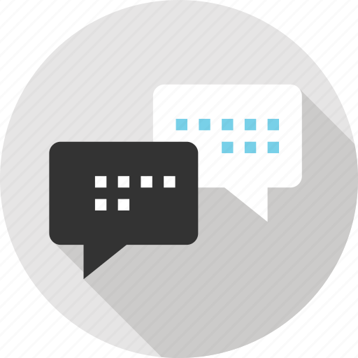 chat, communication, message, messaging, talk, text, two icon
