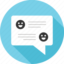 conversation, facebook, message, messaging, text, two, users icon