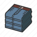 cloth, clothing, indigo, isometric, jeans, lightblue, pants icon