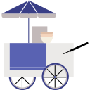 asian, cart, food, stall shop, street food, thai, thailand icon