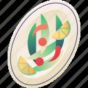 food, papaya salad, somtum, spicy, spicy green papaya salad, thai, thailand icon