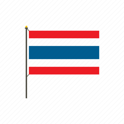 Asia, country, flag, nation, national, thai, thailand icon - Download on Iconfinder