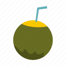 cocktail, coconut, drink, food, fruit, juice, tropical icon