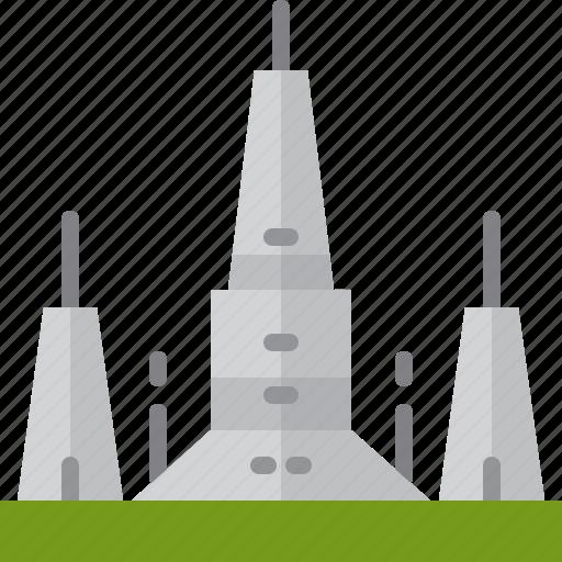 Architecture, arun, bangkok, landmarks, pagoda, thailand, wat icon - Download on Iconfinder