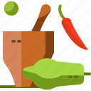 food, local, papaya, salad, somtum, street, thailand