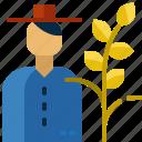 gardener, rice, thailand icon