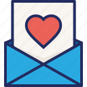 letter, love, mail, note, thanks, valentine, wedding icon
