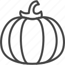 day, holidays, line, outline, pumpkin, thanksgiving icon