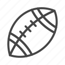 american, day, football, holidays, line, outline, thanksgiving icon