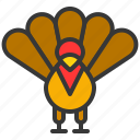 animal, bird, thanksgiving, turkey icon