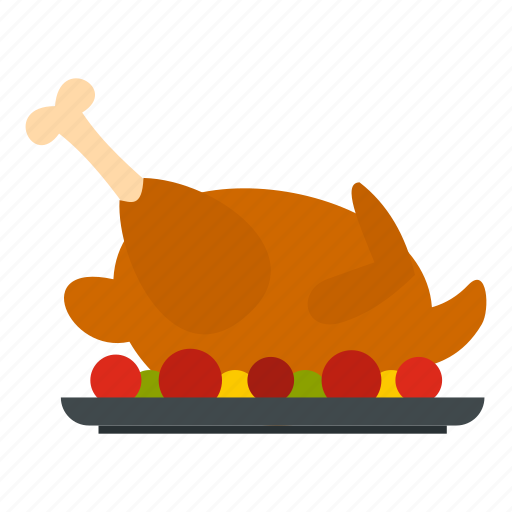 blog, chicken, dinner, food, fried, meat, tomatoes icon