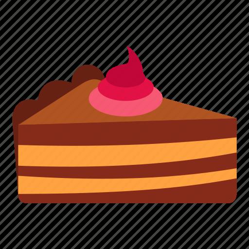 bakery, birthday, cake, celebration, cream, piece, sweet icon