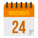 calendar, season, year, fourth, twenty, november, day icon