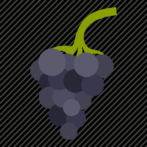 bunch, fruit, grapes, leaf, nature, vine, wine icon