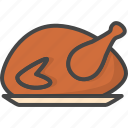 chicken, colored, holidays, thanksgiving, turkey icon