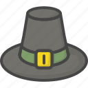 colored, hat, holidays, pilgrim, thanksgiving icon