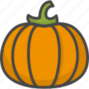 colored, holidays, pumpkin, thanksgiving, vegetables icon