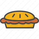 colored, holidays, pie, thanksgiving icon
