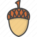 acorn, colored, holidays, thanksgiving icon