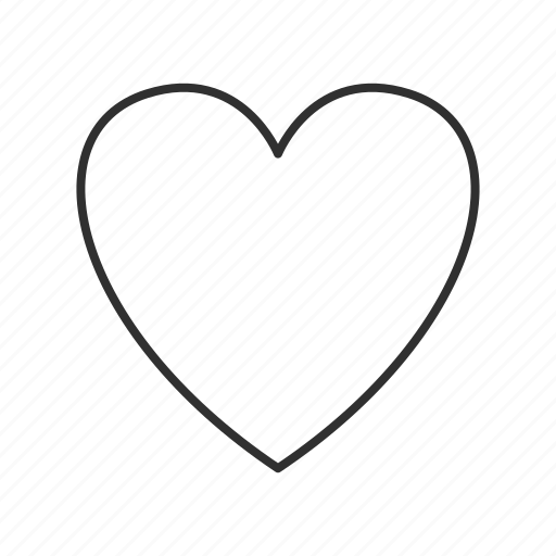 full heart, heart, heart icon, heart outline, valentine, valentine's, valentines day icon