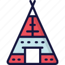 dinner, holiday, tent, thanksgiving, tipi icon