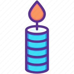 candle, dinner, flame, light, thanksgiving, wax icon