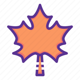 autumn, dry, leaf, leaves, maple, tree icon